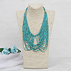 Beautiful Sea-Green String Necklace