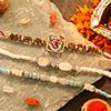 Beautiful Set of 3 Stones Rakhi