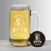 Beer is Happiness Beer Mug with Magnetic Bottle Opener