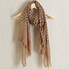 Beige stole in Poly-cotton