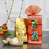 Ben 10 Kids Rakhi Set with Assorted Chocolates in a Golden Pouch