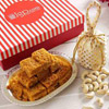 Besan Barfi With 100g Cashewnuts in a Gift Box