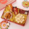 Besan Laddoos with Roasted Dry Fruits & Chocolates Hamper