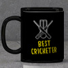 Best Cricketer Personalized Black Mug