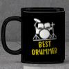 Best Drummer Personalized Black Mug