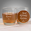 Best Friends Forever Personalized set of two whiskey glasses