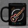 Best Guitarist Personalized Black Mug