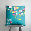 Best Mom Ever Cushion in Turquoise
