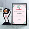 Best Mom Personalized Certificate & Trophy Set