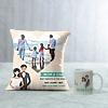 Best Parents Personalized Anniversary Cushion & Mug