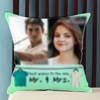 Best Wishes to the duo Personalized Wedding Cushion