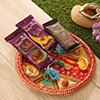 Bhaidooj Tikka Thali with 2 Silk & Borunville