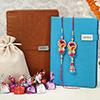 Bhaiya Bhabhi Rakhi with Personalized Diaries & Chocolates