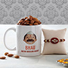Bhau Aapan Mahaan Personalized Mug with Kundan Rakhi & Almonds