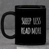 Bibliophile Personalized Black Mug