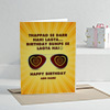 Birthday Bumps Personalized Greeting Card
