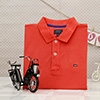 Black And Silver Mobike Model with Arrow Orange T-shirt