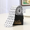 Black and White Anchor Printed Broad Tie