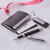 Black Card Holder with Pen & Keychain Hamper