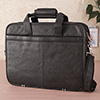 Black Pure Leather Laptop Bag for Professionals