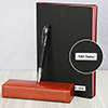 Black & Red Personalized Diary with Pen