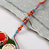 Blue and Orange Beaded Rakhi