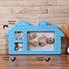 Blue Brick House Personalized Photo Frame