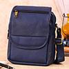 Blue Leather Sling Bag