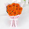 Bouquet of 10 Fresh Orange Gerberas