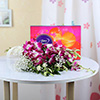 Bouquet of 6 Purple Orchids with Celebrations Chocolate Pack