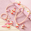Bright Pink Kitty Design Kids Fashion Accessories