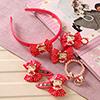 Bright Pink Kitty Design Kids Hair Accessories