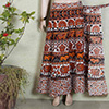 Brown and Black Rajasthani Print Long Skirt