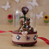 Brown Rotating Musical Glass & Resin Showpiece