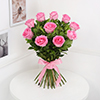 Bunch of 10 Pink Roses