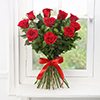 Bunch of 10 Red Roses with 500gm Assorted Dry Fruits Box