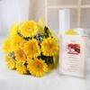 Bunch of 10 Yellow Gerberas with Greeting Card For Dad