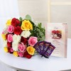 Bunch of 24 Mix Roses with Cadbury Dairy Milk & Father Day Card