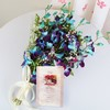 Bunch of 6 Blue Orchids with Greeting Card