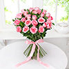Bunch of Charming 25 Pink Roses