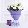 Bunch of Mix Flowers with 2 Bars of Cadbury Dairy Milk Silk
