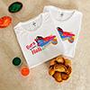 Bura Na Mano Personalized Tshirts (set of 2) with Gulal and Gujiya
