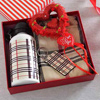 Burberry Designed Stole with Sipper and Key Chain in Gift Box
