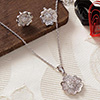 Buttercup Flower Designed CZ Stone Studded Pendant Set with a Ring
