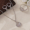 Butterfly CZ Stone Studded Pendant Set with Ring