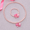 Butterfly Design Pearl Necklace & Bracelet