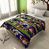Cartoon Print Navy Blue and Forest Green Kids Blankets