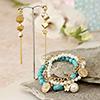 Charming Bracelet with Designer Earring