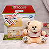 Childcare Baby Gift Set with T-shirt Wearing Teddy Bear