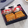 Chocolate And Gur Revdi With Mango Gazak In Gift Boxes